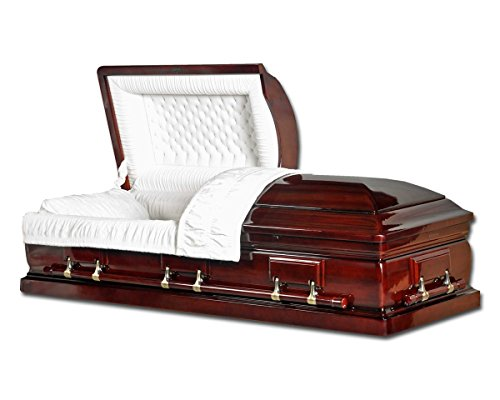 Overnight Caskets - Mahogany Solid Wood W Velvet Interior - Fine Wood Casket / Coffin