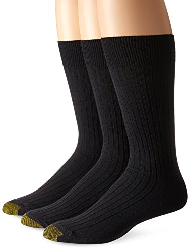 Gold Toe Men's Classic Canterbury Crew Socks (Pack of 3), Grey Marl, Shoe Size: 6-12.5