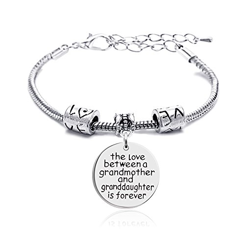 lauhonmin Mother Daughter Mother Son Grandmother Grandson Granddaughter Charm Bracelets Mom Gifts Mother's Day (Grandmother and Granddaughter)