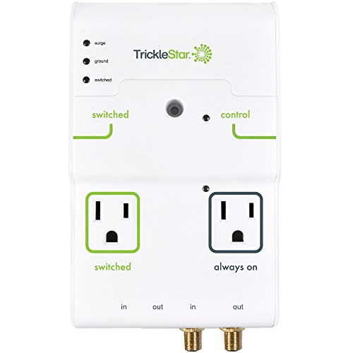 tricklestar 4 outlet advanced powertap  2160 joules  coax and rj11  45 secondary protection