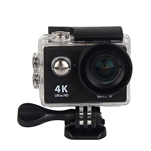 Action Cam 4K WiFi Ultra HD Waterproof Sport Camera 2 Inch LCD Screen 12MP 170 Degree Wide Angle Lens 2 Rechargeable 1050mAh Batteries, Includes 18 Accessories Kits by cjc
