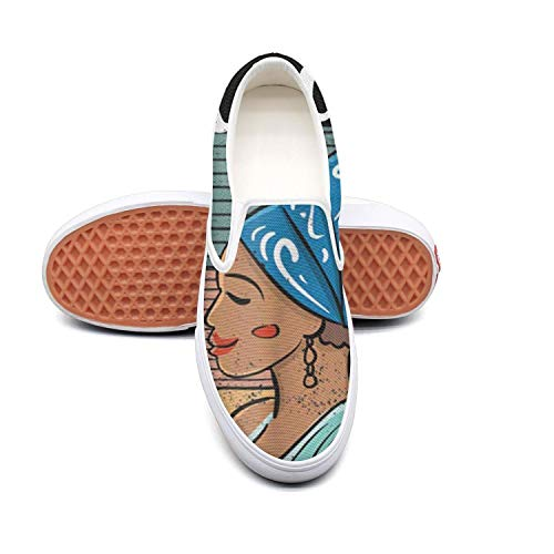 Women's Fashion Sneakers Black History Month 2019 Beautiful African Heritage Comfortable Loafers Slip on Casual Canvas Walking Shoes