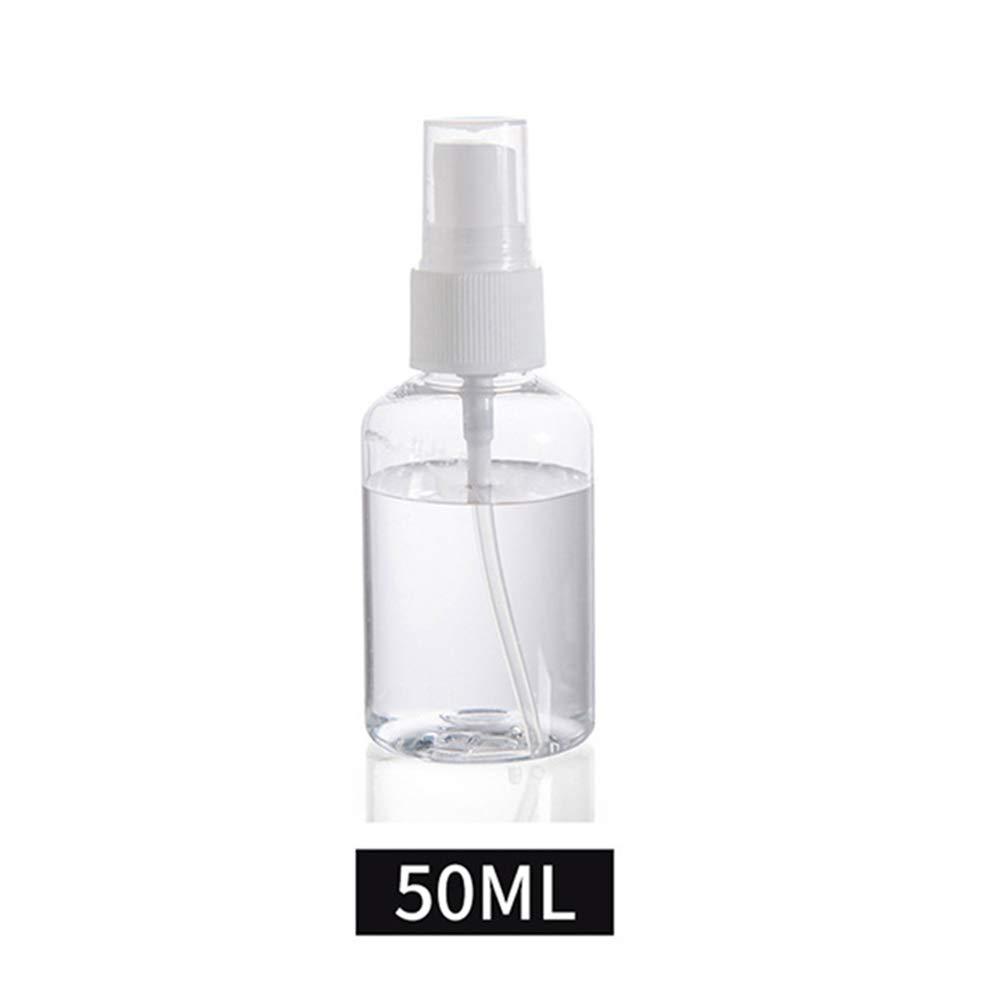 ERIOG 6 Piezas Botellas de Aerosol vac/ías Transparentes 30 ml 100 ml Mini contenedor Recargable de pl/ástico envases cosm/éticos Botella peque/ña Transparente Niebla Fina Viaje atomizador 50 ml