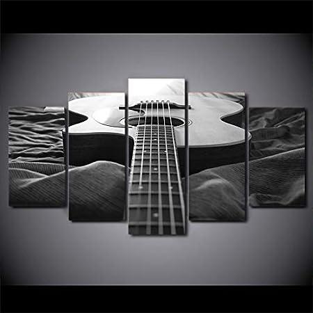 N/R Modernos del Arte Cuadro En Lienzo Guitarra Instrumento Musical 150x80cm Pintura Carteles Impresiones De La Lona Arte De La Pared Decorativa Cuadros Pintura decoración para el hogar (Sin Marco)