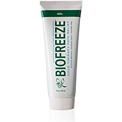 Biofreeze Pain Relief Gel, 4 oz. Tube, Cooling Topical Analgesic for Arthritis, Fast Acting and Long Lasting Pain Reliever Cream for Muscle Pain, Joint Pain, Back Pain, Original Green Formula