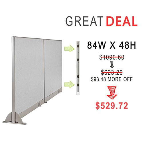 [Christmas Special] GOF Office Freestanding Partition Room divider Wall divider Wall panel Office Wall (Wallmounted 84w x 48h) by GOF
