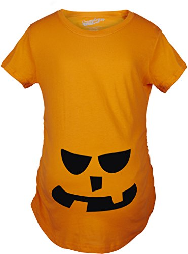 Crazy Dog TShirts - Maternity 2 Teeth Square Nose Pumpkin Face Funny Fall Halloween Spooky T shirt - Camiseta De Maternidad