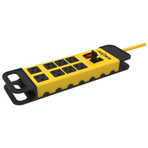 Yellow Port (Yellow Jacket 5148 Modern 8-Outlet Metal Power Block with 2 USB Ports, Yellow)