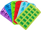This bundle of six ice cube tray molds comes with a variety of shapes making it a must for any kitchen so you're ready for any occasion including crafts. Chef Craft trays are made of TPR (Thermal Plastic Rubber) which have melting and molding...