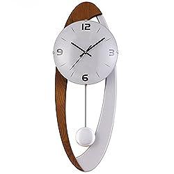 Imoerjia Living Room Clocks, European Creative Wall Clock Large Pendulum Clock, Wall Clock Retro Mute Clock, B