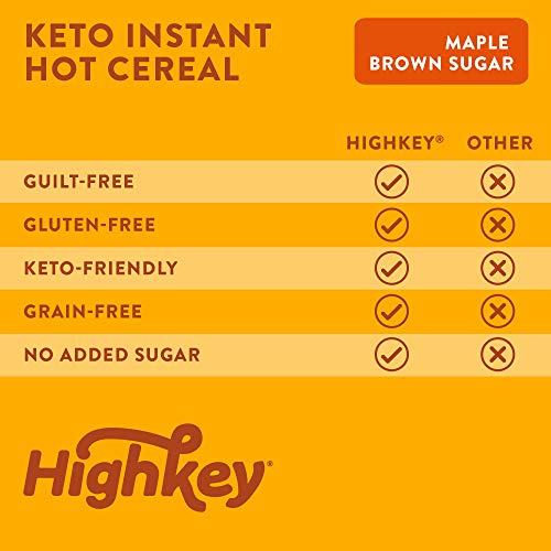 HighKey Snacks Keto Breakfast Cereal - Low Carb Food - Oatmeal & Grits Substitute - High Protein Gluten & Grain Free Snack - Ketogenic Friendly Foods & Products - Diabetic Diet - Maple & Brown Sugar 5