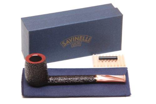 (Savinelli Roma Rustic 804 KS Lucite Stem Tobacco Pipe)