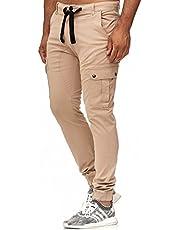 Tazzio Italia Slim Fit Herren Stretch Chino Jogger Cargo Hose Jeans Denim 18525
