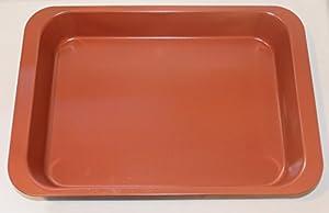 "Granite View Copper Ceramic Cake Pan 14"" x 10.25"" x 2.25"", Non-stick, Non-scratch, Heavy Duty, Light Weight"