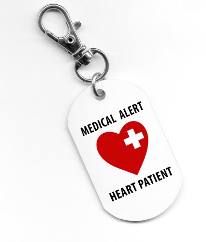 Medical Alert HEART PATIENT 1 x 2 inch Aluminum Dog Tag ()