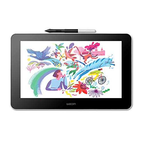 Wacom One Creative Pen Display de 13.3″ con Software Incluido para Esbozo y Dibujo en Pantalla, 1920 x 1080 Full HD, Colores Vivos y lápiz Digital preciso, óptima para Oficina en casa y e-Learning