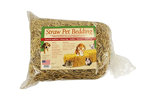Straw Dog Bedding (CC Outdoor Living Mini Straw Bale Pet Bedding for Small Animals - 125 Square Feet)