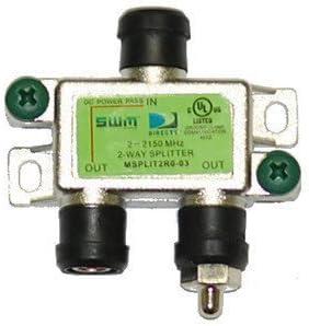 msplit2 Swm 2 Way Splitter 2-2150 Mhz 1 Port Power Passing Weather Se Directv mrv