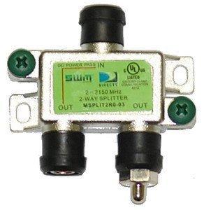 - Directv [mrv] Swm 2 Way Splitter 2-2150 Mhz 1 Port Power Passing Weather Se [msplit2]