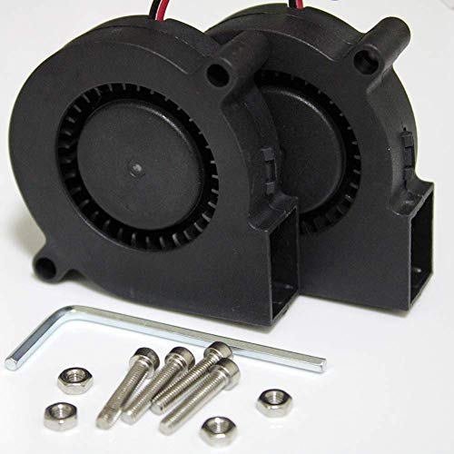 STBYSP Blower Cooling Fan 24V 50mmx50mmx15mm 5015 DC Brushless Turbo for 3D Printer Repair Replacement(24V, Turbo, 2 Pack)
