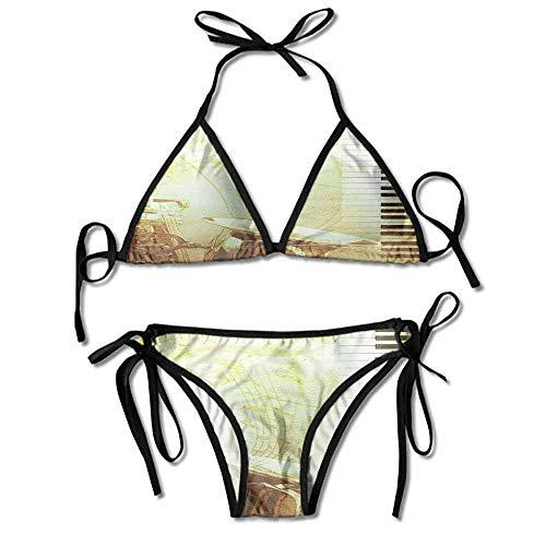 (Women's Print Bikini Echo Beach Rio Tie Side Bikini Bikini Sets Bathing Suit)