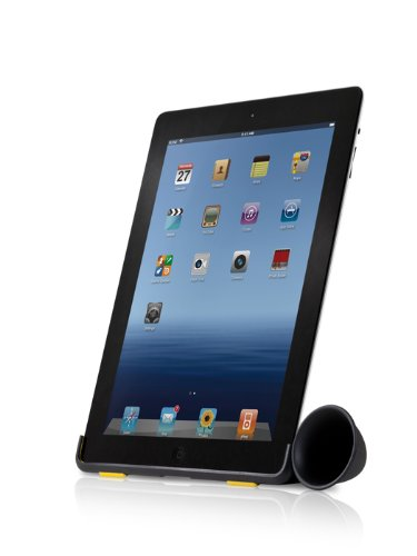 Bone Collection iPad Horn Stand, Black/Yellow (LF12021B)