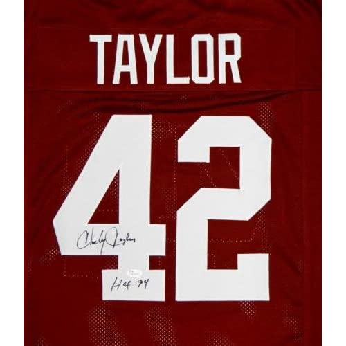 on sale a4048 e1a8f Signed Charley Taylor Jersey - Maroon Pro Style W HOF ...
