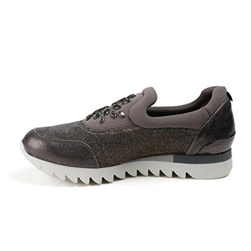 Sneaker Paul Green Leder/Textil kombi Grau