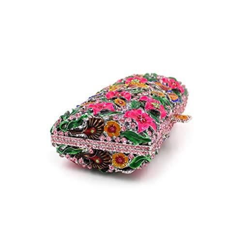 sac fleur dîner métallique strass de B luxe embrayage cristal diamant creux de de de de papillon Sac sac BWCqI4Xn