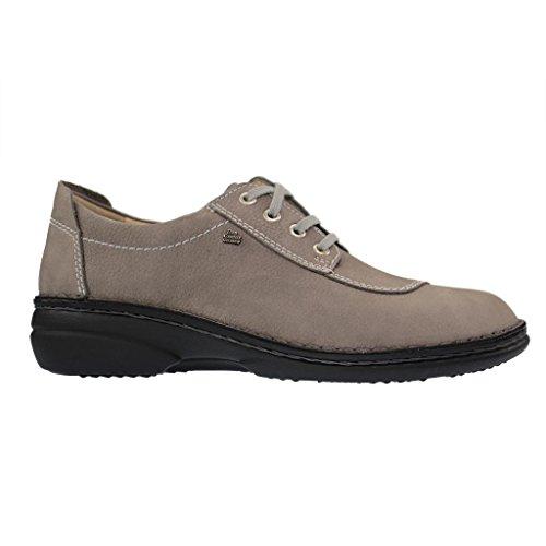 Finn Confort Lexington- Cómodos Zapatos / Zapatos Sueltos De Ropa Interior Inserción Confortables Con Cordones, Gris, Cuero (impala) Gray