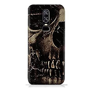 AMC Design OnePlus 6 TPU Silicone Protective Case with Dark Skeleton Pattern