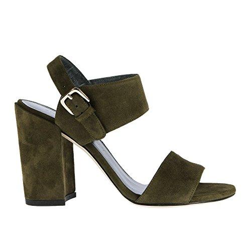 Weitzman 5 Sandalo In Camoscio Olive Stuart 37 Verde qzfwU