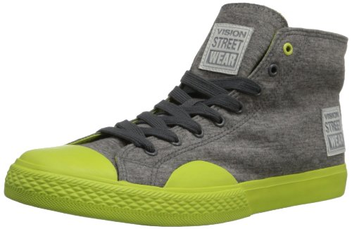 Syn Street Wear Mens Canvas High Fashion Gymnastiksko Grå / Neon