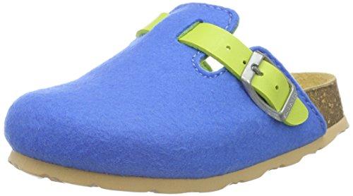 Superfit FUSSBETTPANTOFFEL 700112, Jungen Pantoffeln, Blau (CYAN KOMBI 85), 37 EU