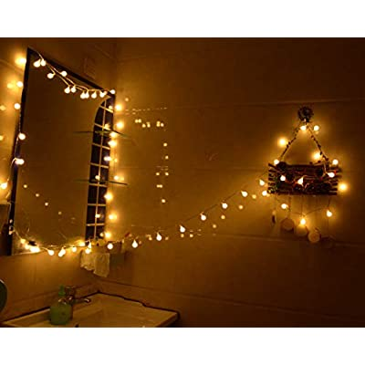 Abkshine 16.4FT 50LED Color Changing Globe Fairy Lights with Timer, Multicolored Warm White 2-in-1 Battery String Lights for Christmas Outdoor Decoration Camping Tent Bedroom Wedding : Garden & Outdoor