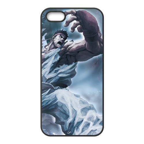 Street Fighter X Tekken 18 coque iPhone 5 5s cellulaire cas coque de téléphone cas téléphone cellulaire noir couvercle EEECBCAAN03558