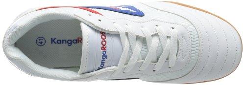 KangaROOS Goal Line 14 P - Zapatillas de material sintético unisex Weiß (white/royal blue 044)