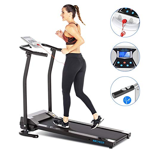 Electric Treadmills with LCD Display Exercise Fitness Trainer ...