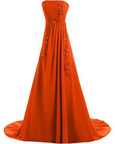 Missdressy - Vestido - trapecio - para mujer naranja 44