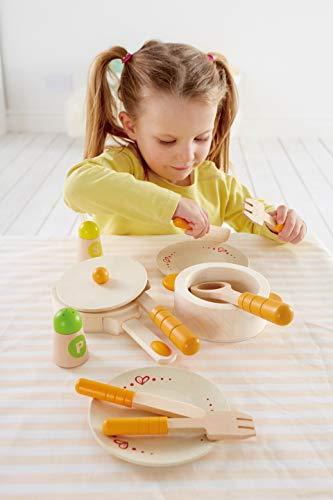 Hape Gourmet Play Kitchen Starter Accessories Wooden Play Set , White