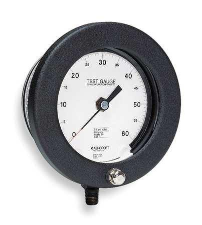 Pressure Gauge, 0 to 200 psi, 6In, 1/4In