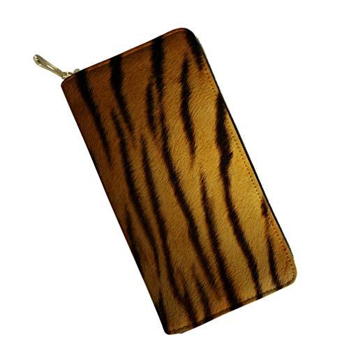 Tiger Clutch (Mumeson Fur Pattern Women Long Wallet Leather Clutch Evening Bag Storage Purse,Tiger)