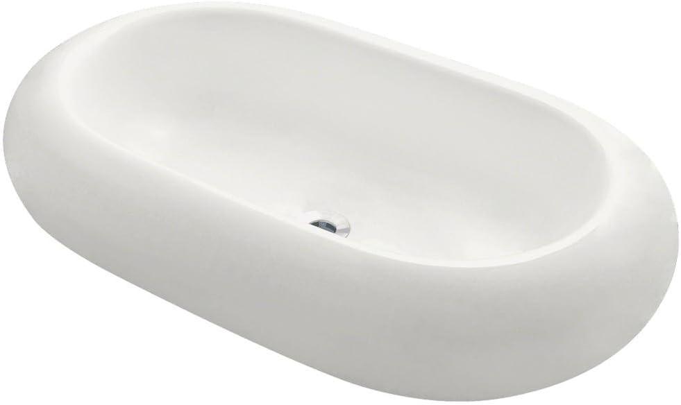 V130-B Bisque Pillow Challenge the lowest price of Popular standard Japan ☆ Top Sink Vessel Porcelain Lavatory