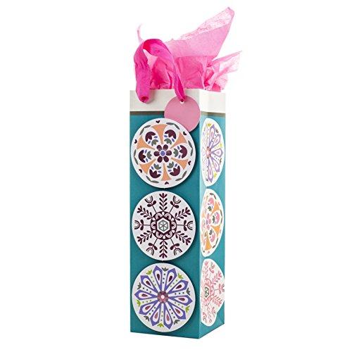 (Hallmark Bottle Gift Bag with Tissue Paper (Medallion))