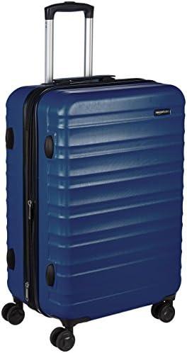 AmazonBasics Hardside Spinner, Carry-On, Expandable Suitcase Luggage with Wheels, 26 Inch, Navy Blue
