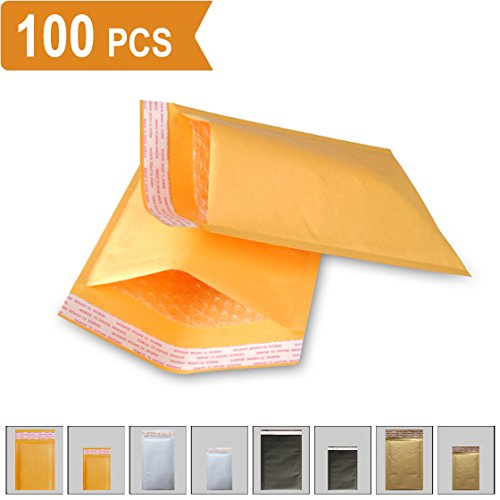 Padded Envelopes Kraft Bubble Mailers 5x7 (Usable Space 4.2