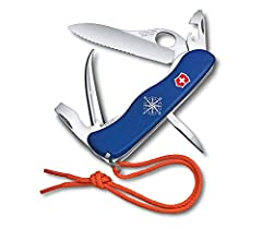 Victorinox Skipper Blue Pocket Knife Beautiful, stress-free, ready-for-anything days on the water require a beautiful, stress-free, ready-for-anything tool. Which is why we've developed the compact Skipper Pro tool as a piece that provides th...