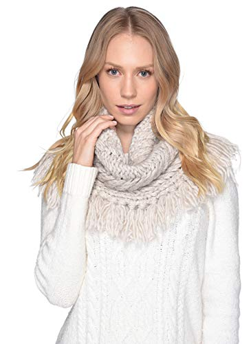 UGG Women's Fringe Knit Snood Beige One Size for sale  Delivered anywhere in USA