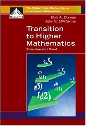Transition to Higher Mathematics: Structure and Proof (Walter Rudin Student Series in Advanced Mathematics)