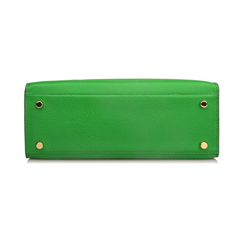 Satchel 32cm Handbags Shoulder Bag Green Women's Purse Padlock Hobo Ainifeel wRqBHXX